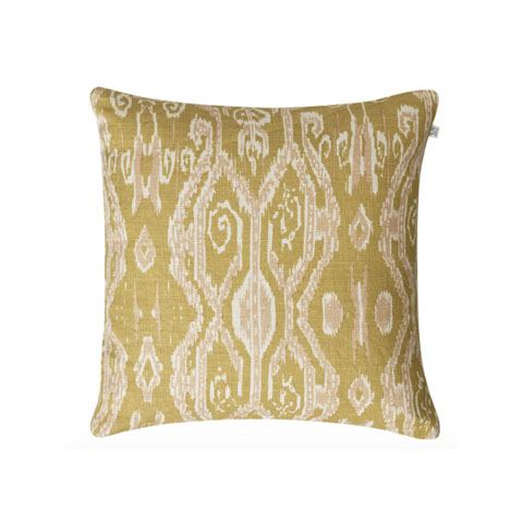 Ikat Madras - Spicy Yellow Rose 50 x 50 cm
