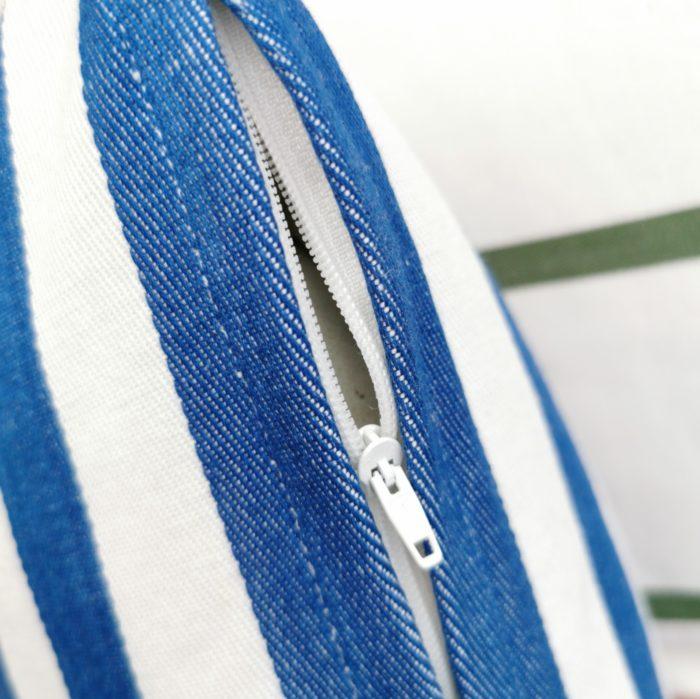 Moko mas tyynynpäällinen raidallinen sininen 40x60 lähi