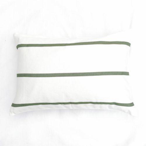 Moko mas tyynynpäällinen raidallinen vihreä 40x60