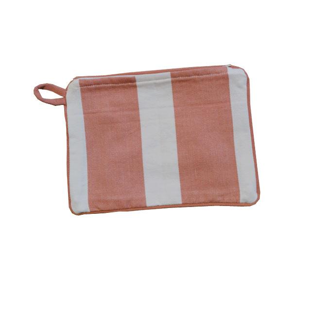 Moko Mas raidallinen kosmetiikkapussi pink