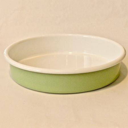 emalivuoka pieni pyöreä vaalean vihreä